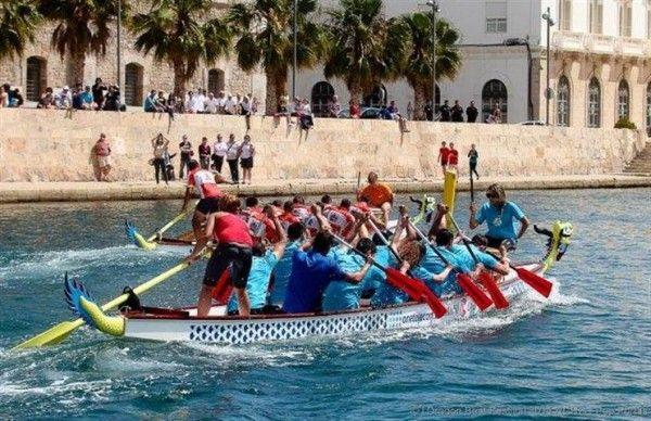 """Pinatar """"A"""" y Cubiplaya se llevan el primer Dragon Boat festival de Cartagena"""