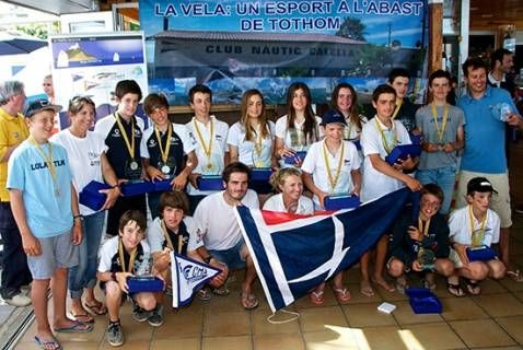 L'equip del CN el Balís es proclama Campió del Campionat de Catalunya d'Optimist per Equips G1